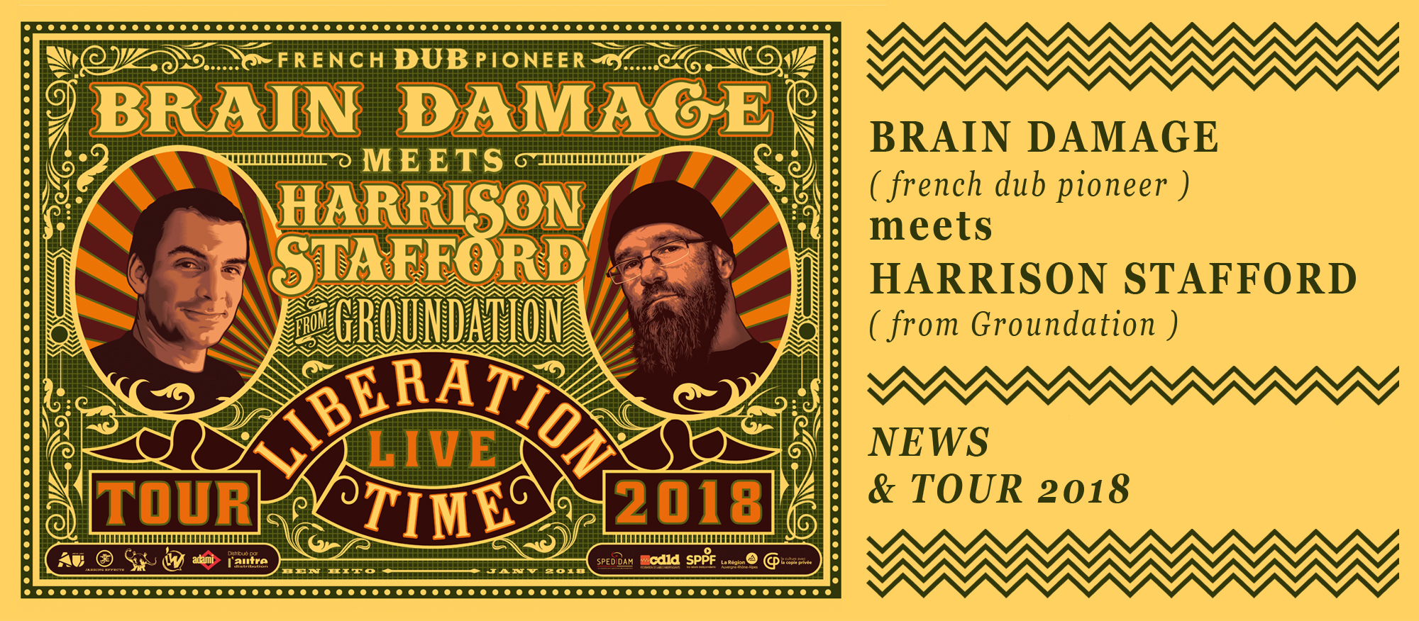 Brain Damage meets Harrison Stafford 2018 news and tour